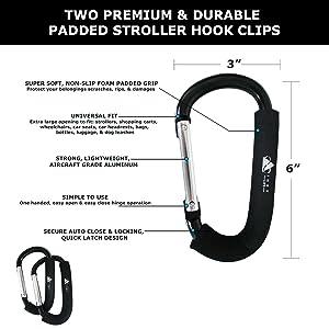 padded clip hooks