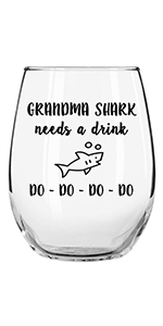 grandma shark needs a drink lovers accessories sayings novelty who st white christmas lover boxes