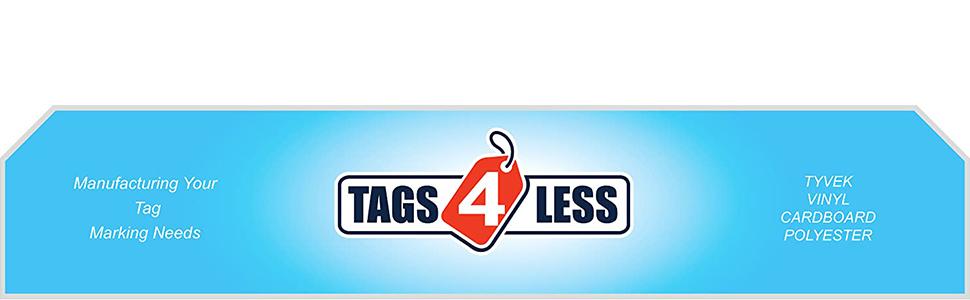tags4less blank tag vinyl cardboard tyvek inspection faa alarm system backflow lighting extinguisher