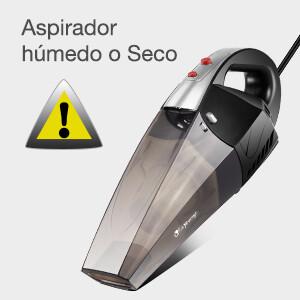 isYoung Aspirador de Coche 12V 6000PA Aspiradora de Mano Portátil Aspirador Potente con Bolsa Uso Seco y Húmedo Fácil y Ligera 120W 600ml Depósito con 2 Filtros Lavables Cepillo y 4.5M Cable: