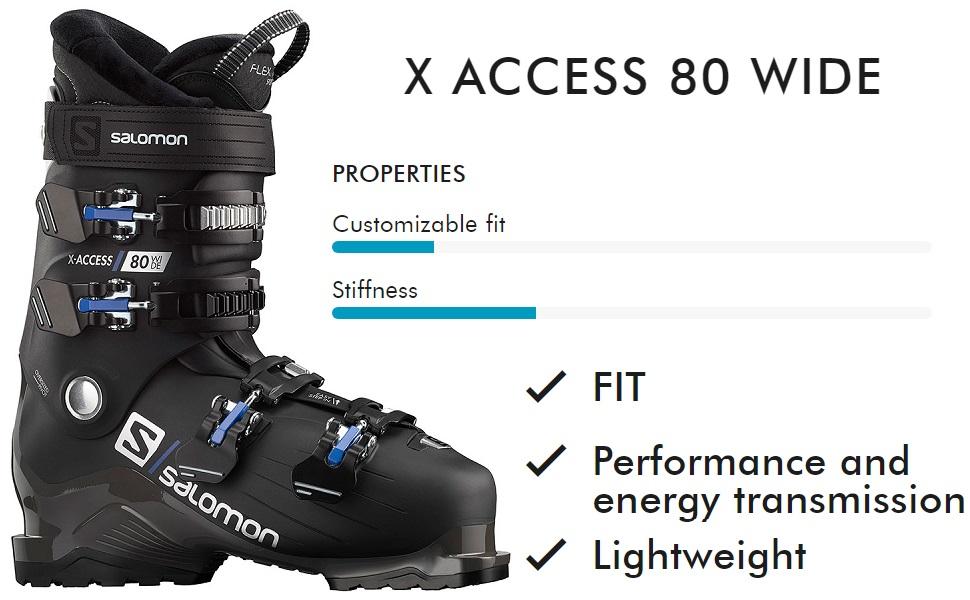 Stagione Migliore aggrapparsi  Salomon X Access 80 Wide Ski Boots Mens
