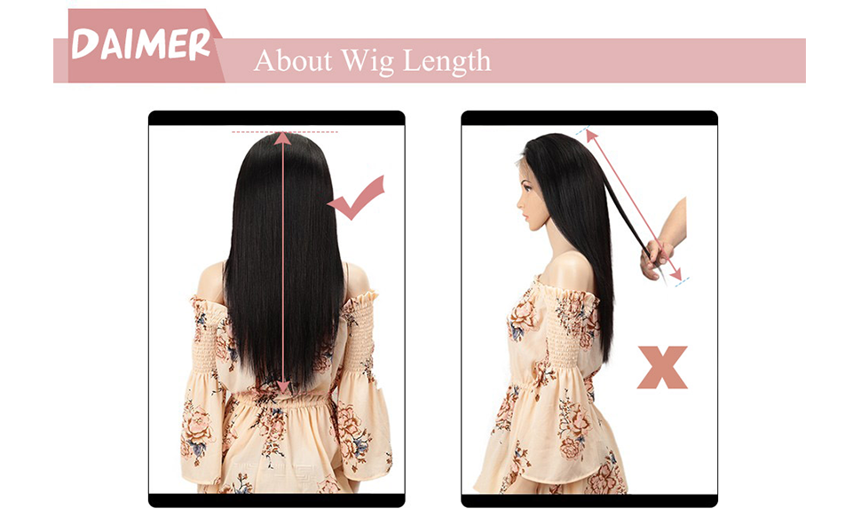 How to measure the hair length of closure wigs correctly