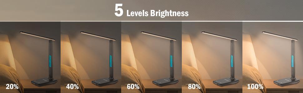 Dimmable Desk Lamp adjust 5 level