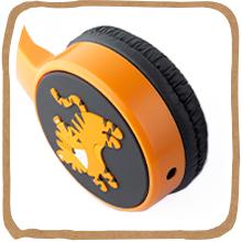 planet buddies, headphones, earphones, kids headphones, kids, music sharing, audio sharing, tiger