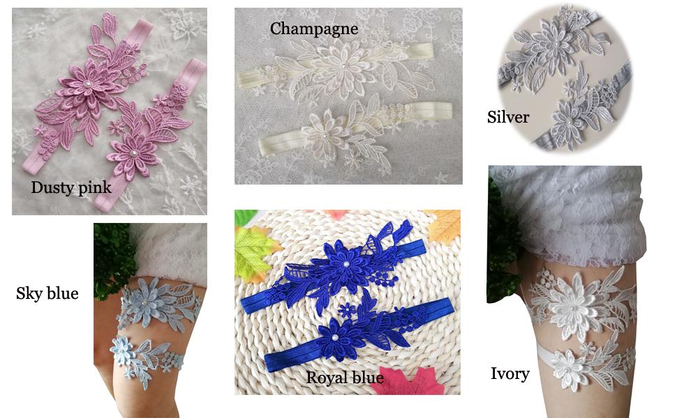 bridal garter for wedding lace