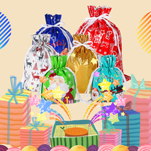 xmas wrapping bags