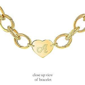 hanging heart charm bracelet initials gift letter bracelet gifts for women graduation Tiffany