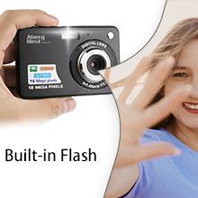 "Flashandfocus.com f03f7c8e-f408-427d-aa3a-59198b611789.__CR0,0,220,220_PT0_SX220_V1___ AbergBest 21 Mega Pixels 2.7"" LCD Rechargeable HD Digital Camera,Video camera Digital Students cameras,Indoor Outdoor for Adult/Seniors/Kids (Black)"