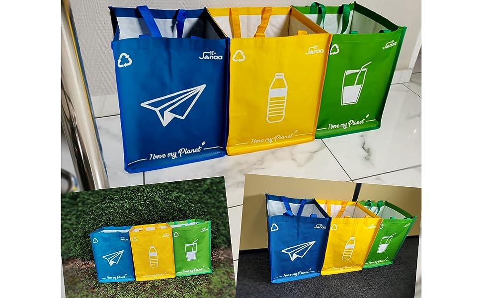 cubo de reciclaje cubos de basura de reciclaje apilable papelera cocina reciclaje