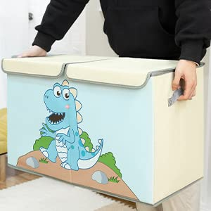 large toy chest with lids and handles