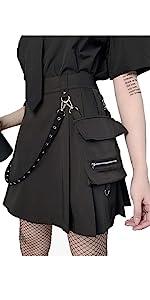 Black gothic skirt women