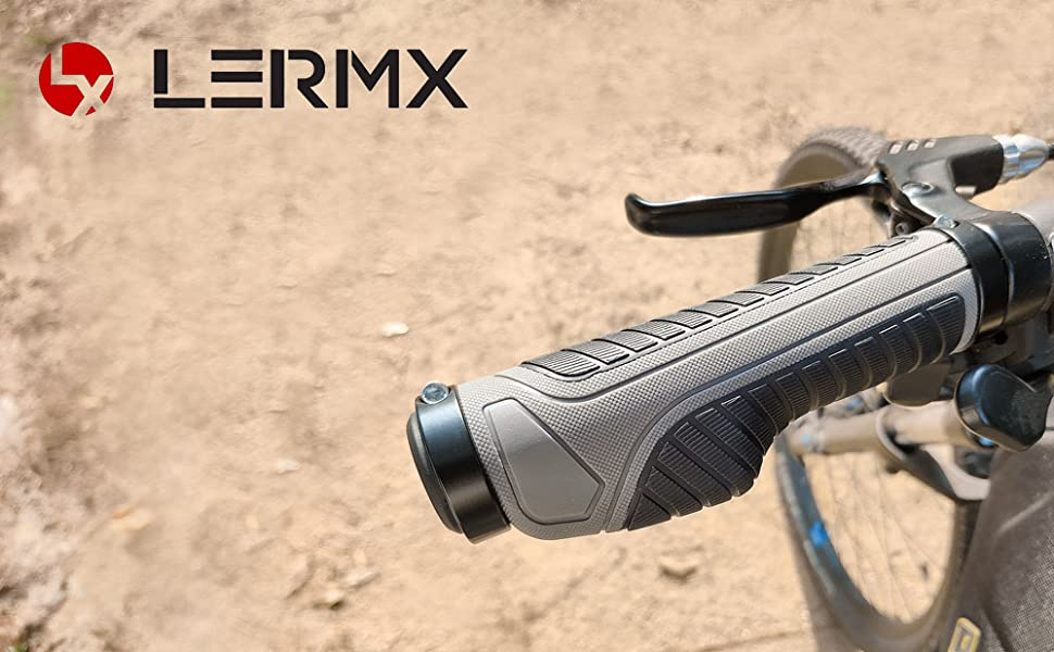 No Branded Bike Grips Ergonomic Bicycle Handlebar Grips Handlebar Rubber Cover with Extended Bar for MTB Bicycle Mountain Bike