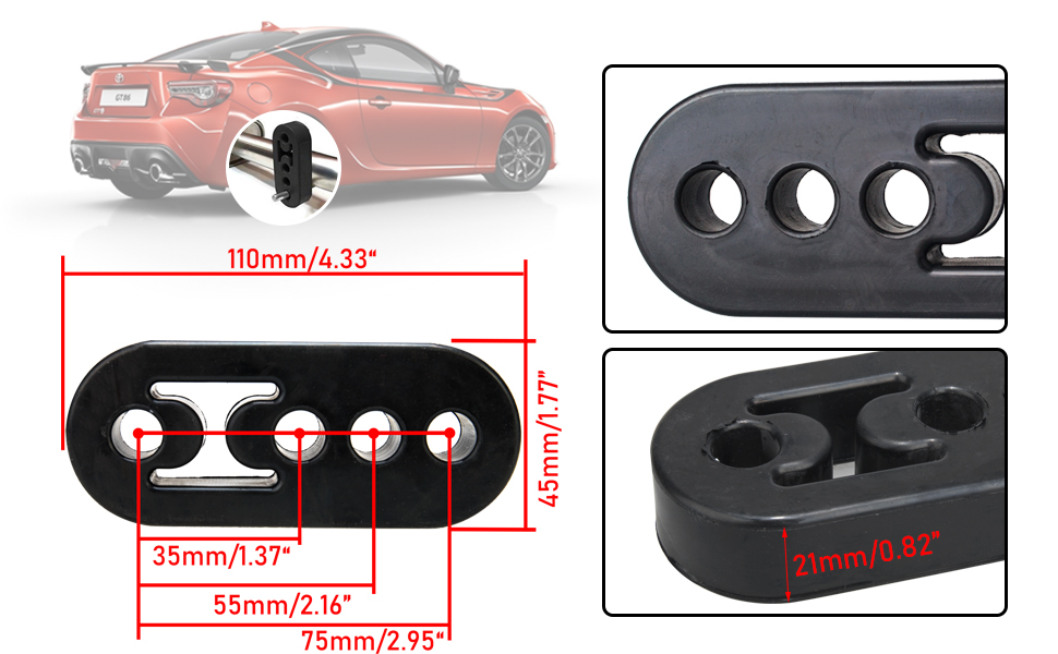 4 Hole Exhaust Hanger Bushing Muffler Insulator