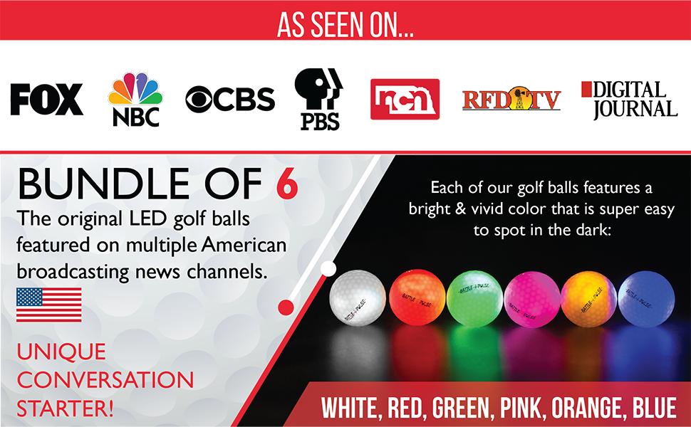 Glow Golf Balls LED golf balls Light up golf balls glow in the dark golf balls