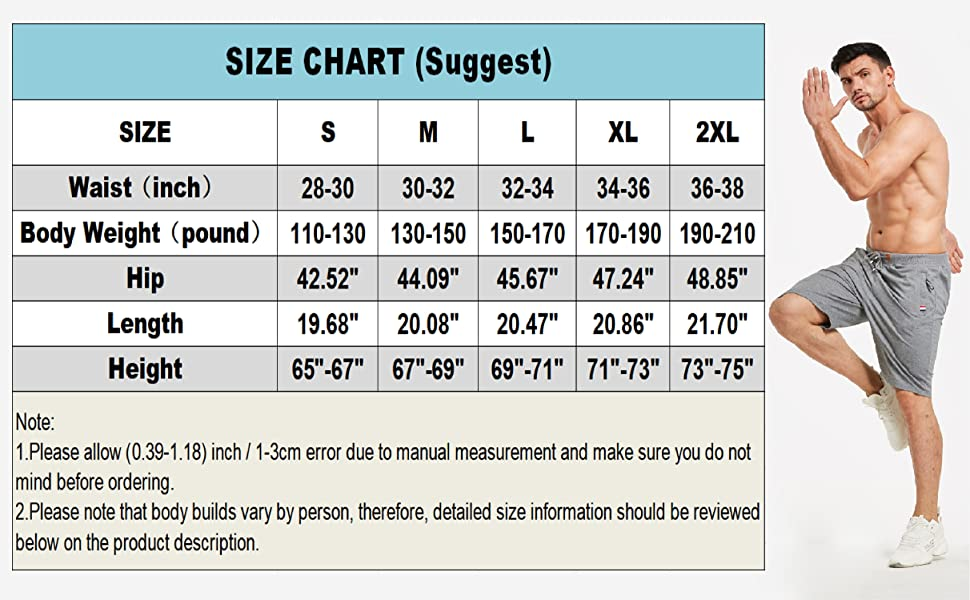 Size Chart (inch):