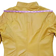 Aviatrix Giacca da Moto Molto alla Moda in Vera Pelle Super Soft Donna