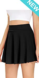 Womens Tennis Skirt with Pockets Athletic Golf Skorts Casual Flared Pleated Skater Skirts with Short