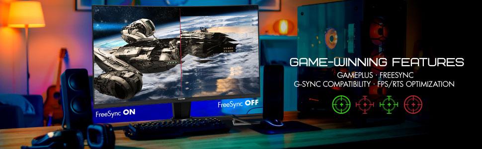Active AMD FreeSync para suavizar los juegos intensos en acción