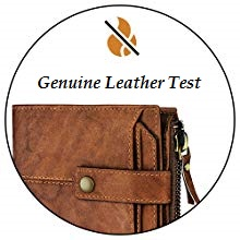 Test the leather with lighter