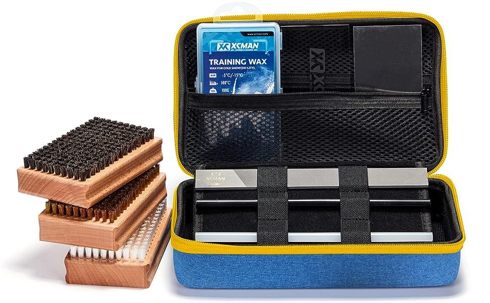 xcman ski snowboard waxing brush kit