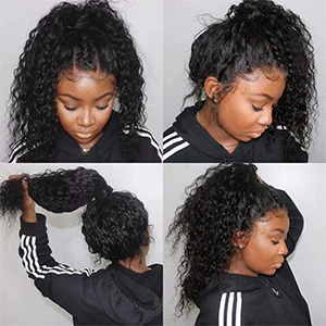 Brazilian Water Wave Wet and Wavy Human Hair Wigs with Baby Hair Pre Plucked Natural Hairline Wigs