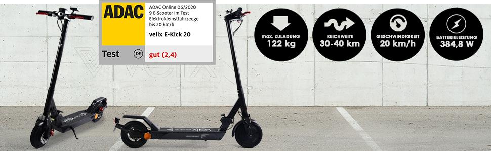 velix e-kick 20 Elektroroller mit Strassenzulassung