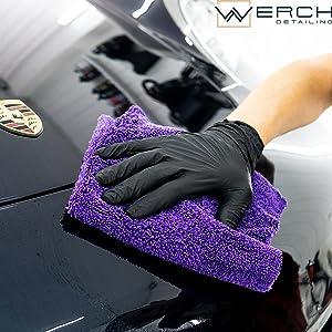 Werch 4x Randloses Microfasertuch Für Autopflege Ultraweich Und Lackschonend Dank 400 Gsm Mikrofasertücher Für Auto Politur 40x40 Cm Poliertuch Für Autolack Blau Auto