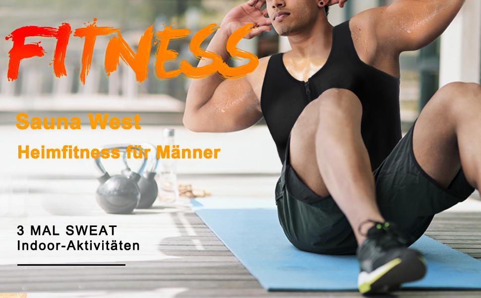 Herren Fitness Shape Shirt Figur formend Training Achselshirts Weste