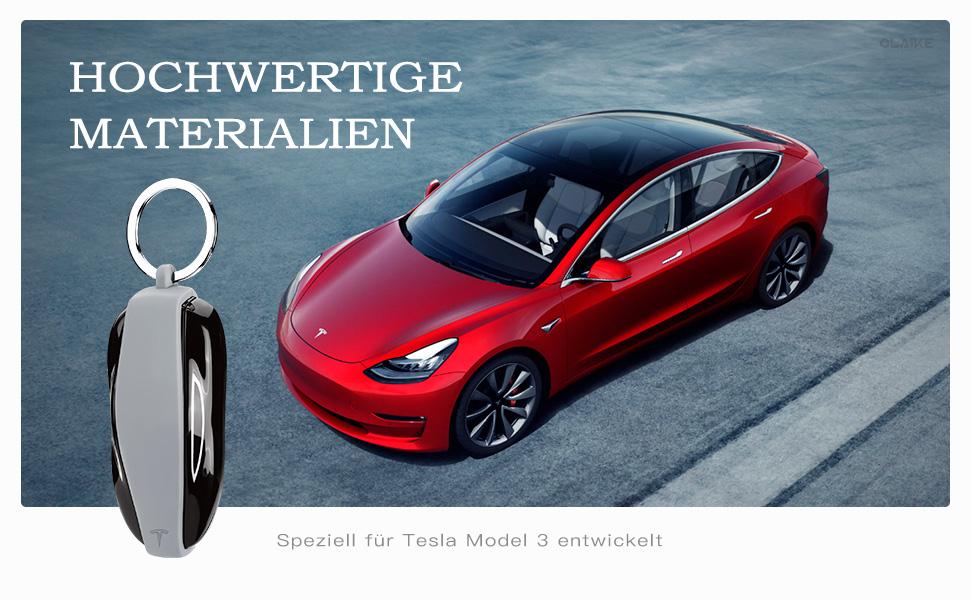 Olaike Key Fob Cover Für Tesla Model 3 Hochwertige Computer Zubehör