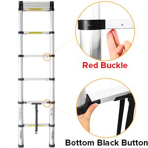 easy Retraction telescopic ladder