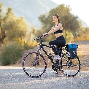 Gepäckträgertasche für Fahrrad Wasserdicht Khalisia Damen Rucksack klein blau waterproof Speed Bag
