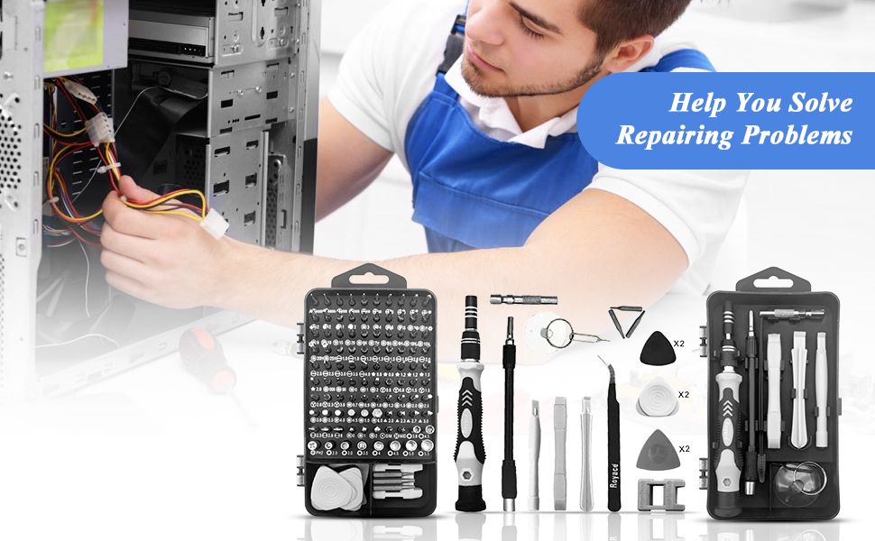 Royace screwdriver set is an irreplaceable tool kit. You can take it comfortably and
