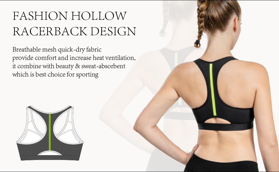fashion hollow racerback design breathable quick-drying