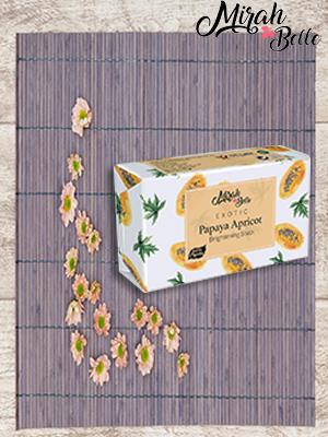 mirah belle organic and natural papaya skin brightening soap, sulfate and paraben free