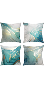 marble throw pillow gold pillow covers silver pillow covers Texture Turquoise teal accent pillows