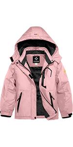 GEMYSE Chaqueta de esqu/í Impermeable de monta/ña para Mujer Abrigo de Invierno al Aire Libre de Lana a Prueba de Viento con Capucha