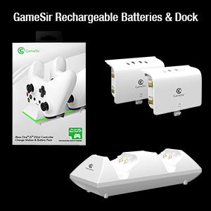 GameSir Rechargeable Batteries & Dock