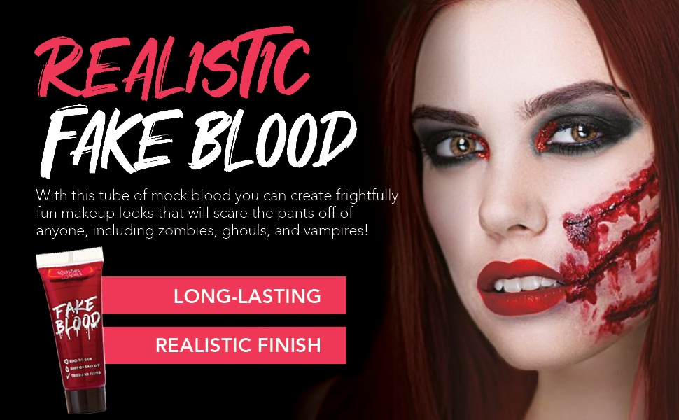 Halloween blood fake makeup makeup paint face body zombie scary clwon killer dead body red bloody