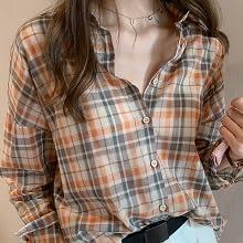 shirt plaid orange