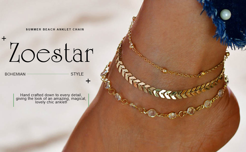 CRYSTAL ANKLET CHAIN