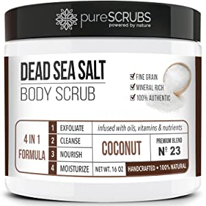 pureSCRUBS Coconut Dead Sea Salt Body Scrub