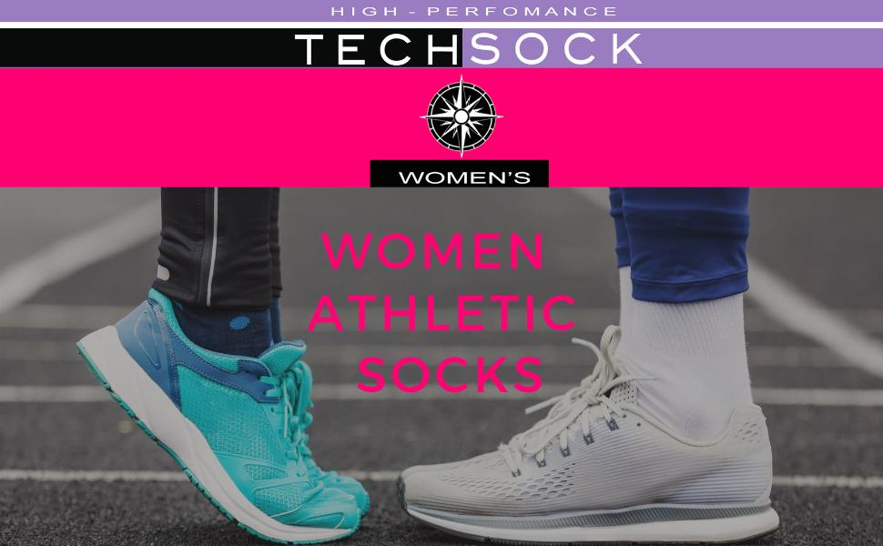 Women's sport socks  Ladies Running Socks Unisex Sport Socks Women's Performance Sock Heel Tab Women