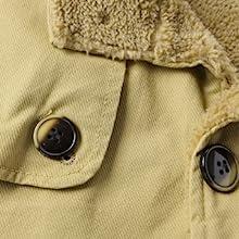 Men's Winter Fleece Windproof Jacket Wool Outerwear Single Breasted Classic Windbreakers Jacket