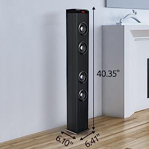 Bluetooth floor standing tower speaker
