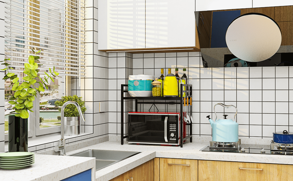 Expandable Microwave Oven Rack