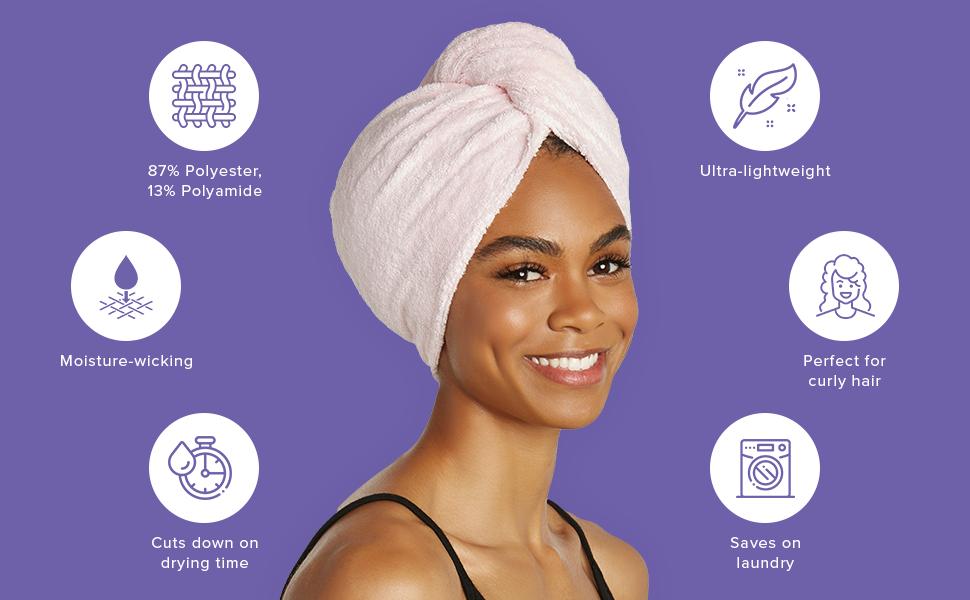 Super Absorbent Microfiber Hair Towel