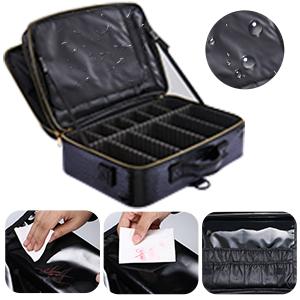 Makeup Bag Travel Makeup Train Case Large Cosmetic Case Professional Makeup Brush Holder Organizer