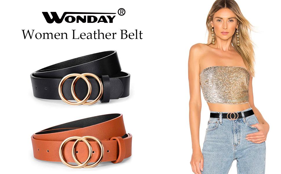 WONDAY women leather belt