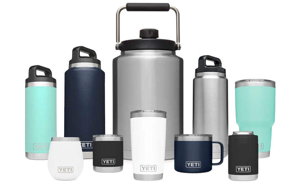 Amazon Com Yeti Rambler 14 Oz Stainless Steel Vacuum Insulated Mug With Lid Black Sports Outdoors