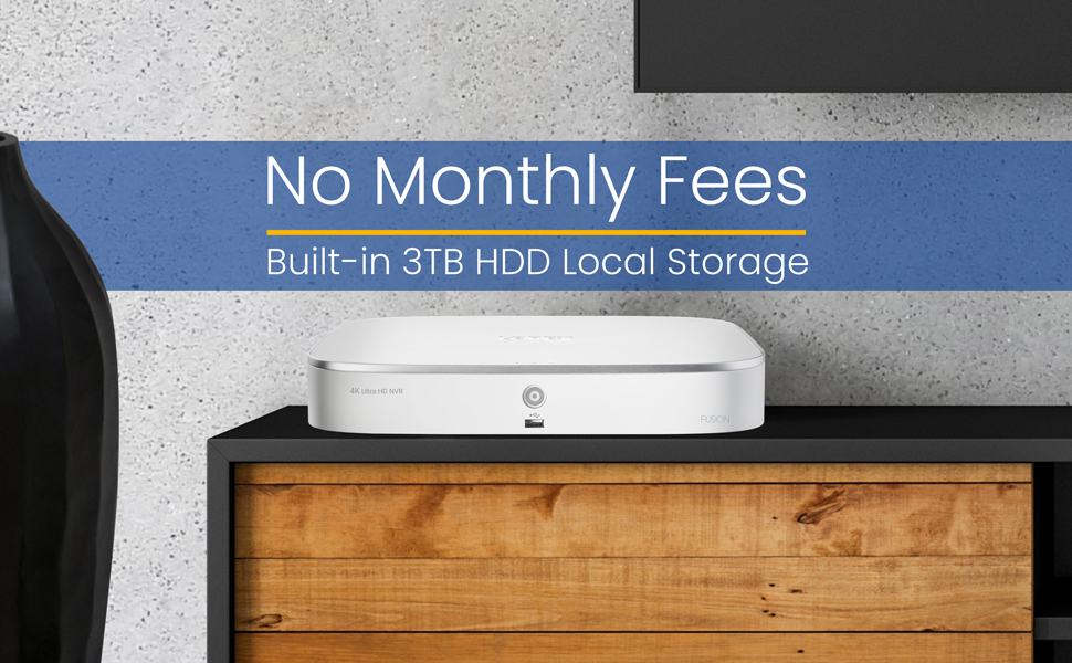 No Monthly Fees, Local Storage, 3TB